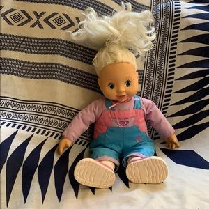 """16"""" Talkin' Tots Vintage Doll 1996 Play by Play"""